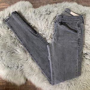 Rag & Bone RBW 23 Distressed Zip Skinny Jeans 26